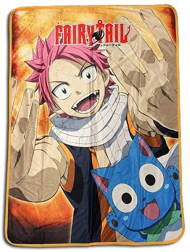 FAIRY TAIL - NATSU & HAPPY  SUBLIMATION THROW BLANKET