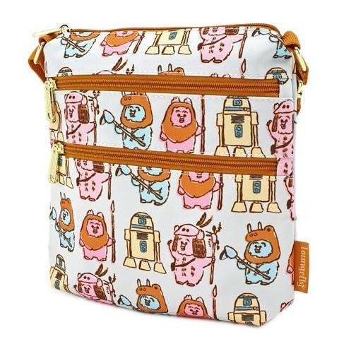 Star Wars Pastel Ewok AOP Nylon Passport Bag Loungefly