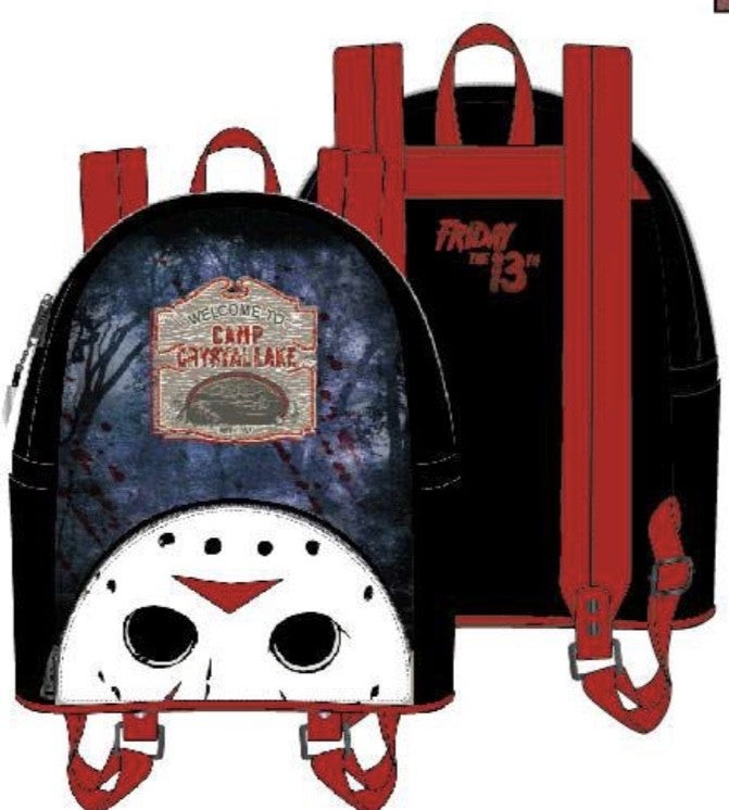 [SET] FRIDAY the 13TH Jason Crystal Lake Mini Backpack [PRE-ORDER - SEPTEMBER DELIVERY] LOUNGEFLY