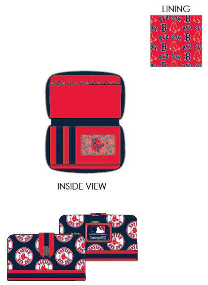 PREORDER Loungefly MLB Boston Red Sox logo wallet Expected late June