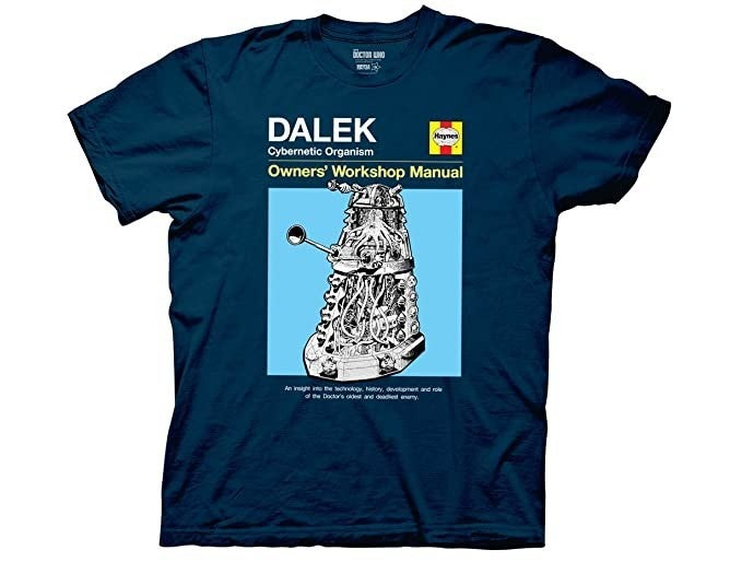 Doctor Who Dalek Owners Manual t-shirt