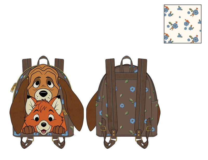 Fox and the Hound Todd and Copper Cosplay Mini Backpack Loungefly PRE-ORDER