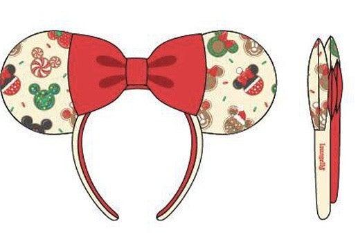 Disney Christmas Mickey & Minnie Cookie Backpack w/ EARS Loungefly