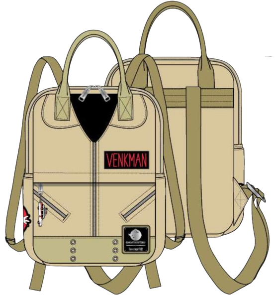 Ghostbusters Venkman Cosplay Square Canvas Mini Backpack Loungefly - Pre-Order Late February