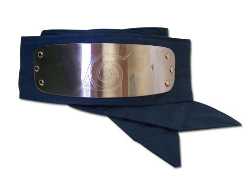 Naruto Leaf Village Logo Head Band Blue Officially Licensed