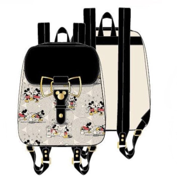 MICKEY Bow Hardware AOP Backpack  [PRE-ORDER - OCTOBER DELIVERY] LOUNGEFLY