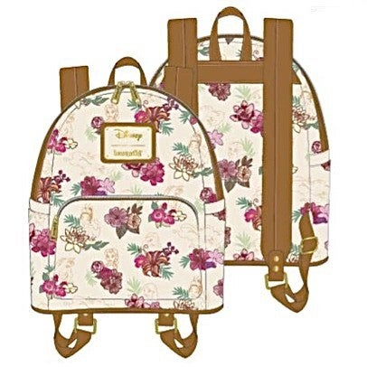 DISNEY PRINCESS Floral SET, MINI BACKPACK or WALLET options [PRE-ORDER - OCTOBER DELIVERY] LOUNGEFLY