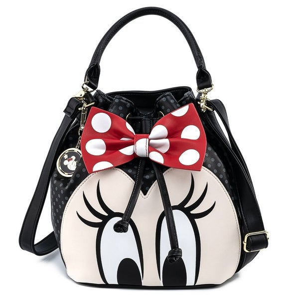 MINNIE Bow Bucket CROSSBODY or WALLET option LOUNGEFLY