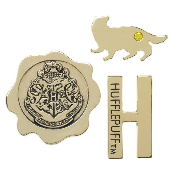 Harry Potter Hufflepuff 3 pack Lapel Pin Set