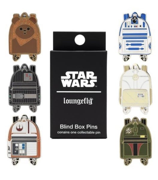 STAR WARS MINI BACKPACK BLIND BOX PINS LOUNGEFLY