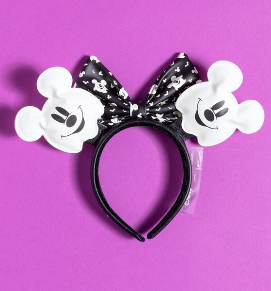 Ghost Mickey Halloween Ears Headband LOUNGEFLY