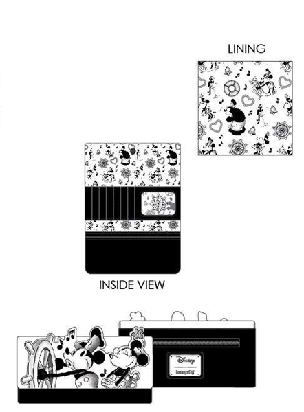 PREORDER Loungefly Disney Steamboat WIllie music cruise flap wallet Expected Late June