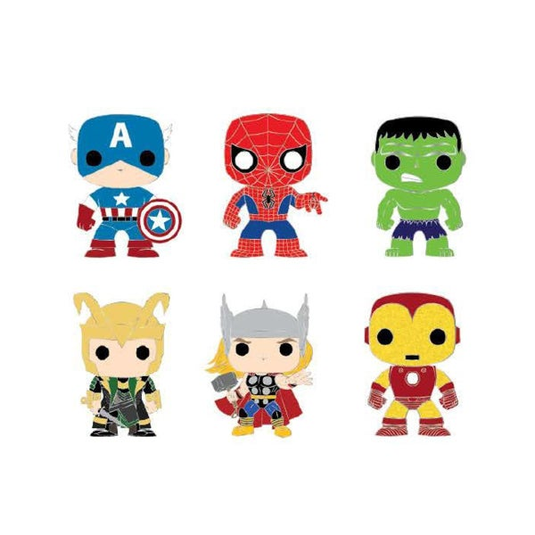 Marvel Pop! by Loungefly Classic Avengers Blind Box Enamel Pin