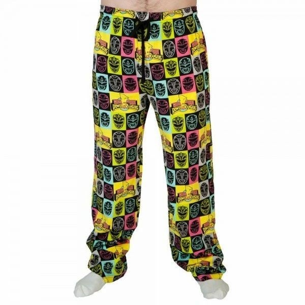 Power Rangers Neon All Over Print Sleep Pants