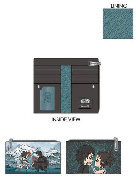 PREORDER Loungefly Star Wars Kylo Rey mixed emotions flap wallet Expected Late June