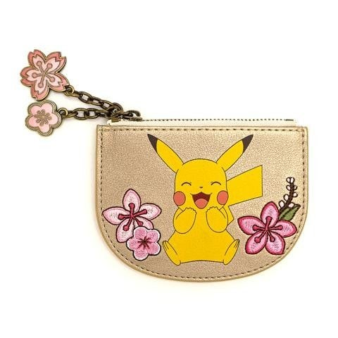Pokemon Eevee & Pikachu Floral Card Holder Coin Purse Loungefly