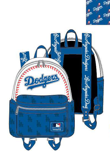 PREORDER Loungefly MLB LA Dodgers baseball seam stitch mini backpack expected late June