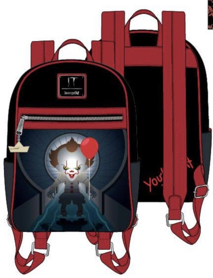 IT Pennywise Sewer Scene Mini Backpack [PRE-ORDER - SEPTEMBER DELIVERY] LOUNGEFLY