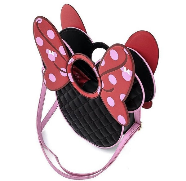 Minnie Mouse Quilted Bow Head Crossbody Disney Love Loungefly PRE-ORDER Delivery expected late January