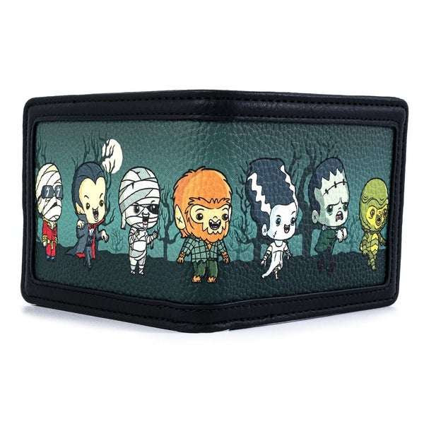 UNIVERSAL MONSTERS Chibi AOP Wallet] LOUNGEFLY