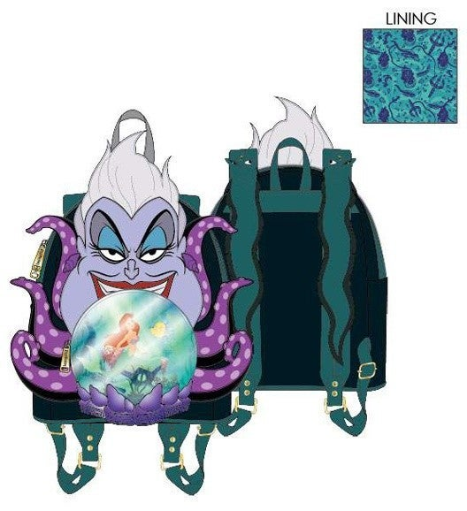 PREORDER Loungefly Disney Villians Scene Series Ursula crystal ball mini backpack Expected Late June