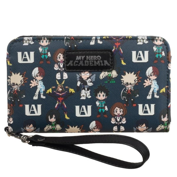 My Hero Academia Multi Character Tech Wallet Wristlet