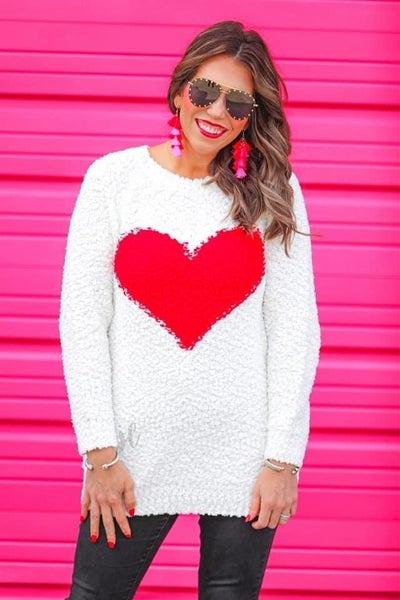 Scarlet Heart Popcorn Sweater