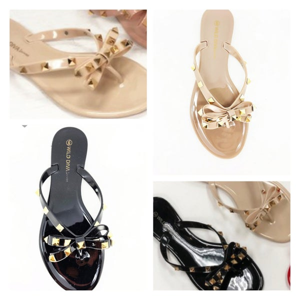 The Studded Bow Flip Flop