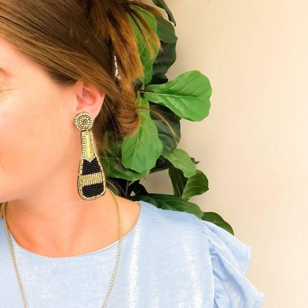 Wine Bottle Dangle Earrings
