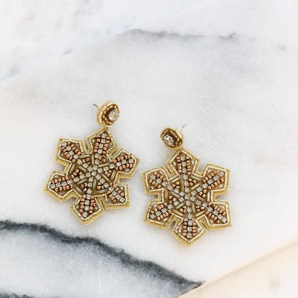 Holiday Snowflake Glimmer Dangles