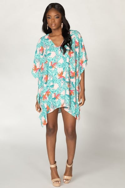 The Tropical Getaway Dreamin' Tunic Dress