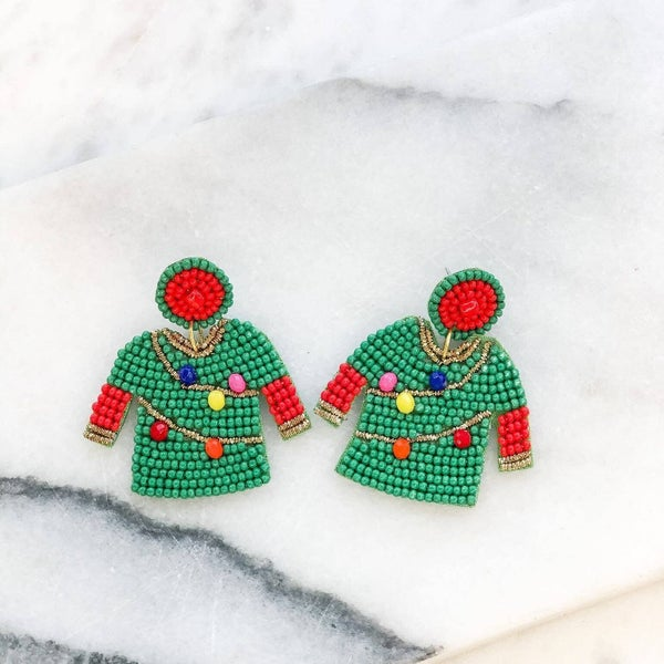 Christmas Sweater Earrings
