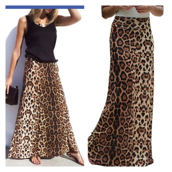 The Leopard Maxi Skirt