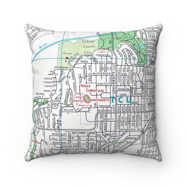 Vintage Map Pillow Covers