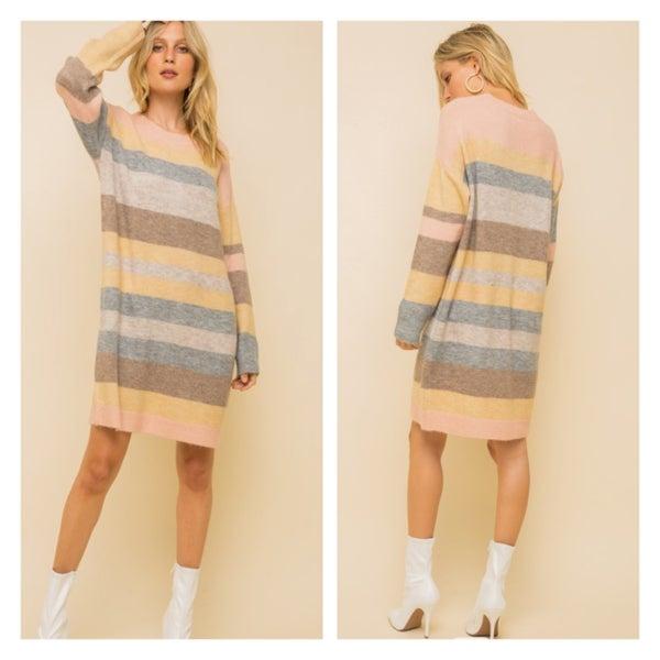 The Stripe Sweater Dress