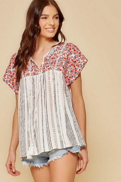 The Elizabeth Embroidered Top