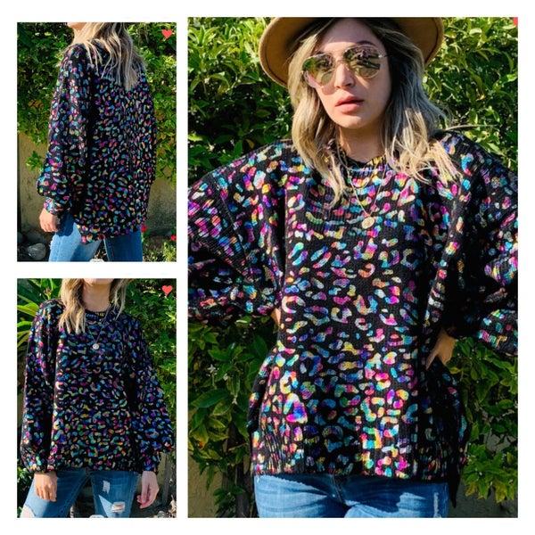 The Multi Leopard Neon Sweater