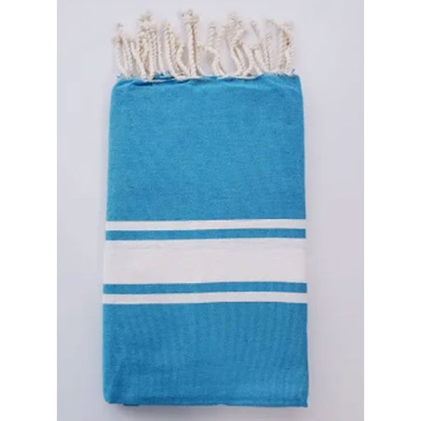 Traditional Fouta Turquoise & White