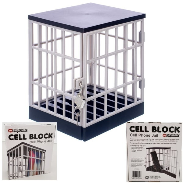 Cell Block Cell Phone Jail with Lock and Key