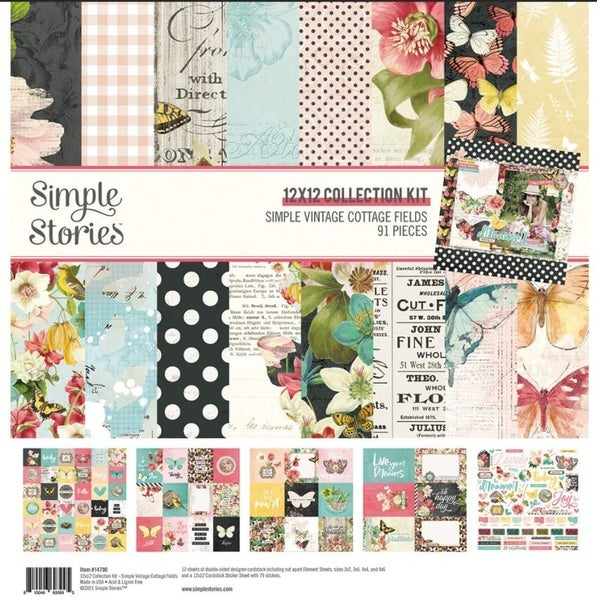 Simple Vintage Cottage Fields 12x12 Paper Collection Kit by Simple Stories