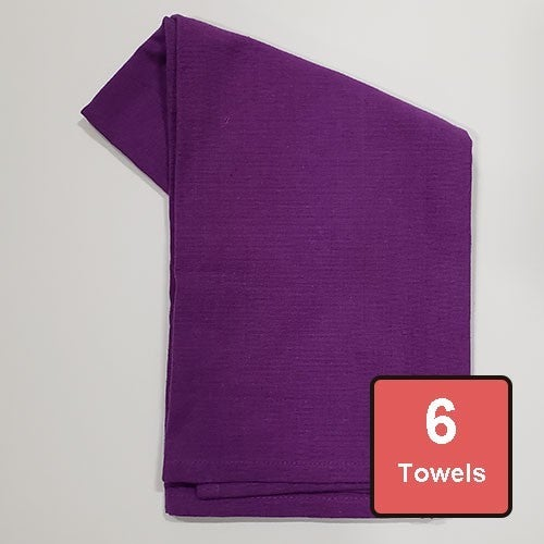 Purple Cotton Tea Towels 6pc