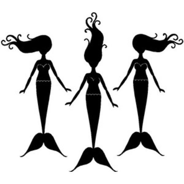 Rub-ON Vinyl- 3 Mermaids (White)