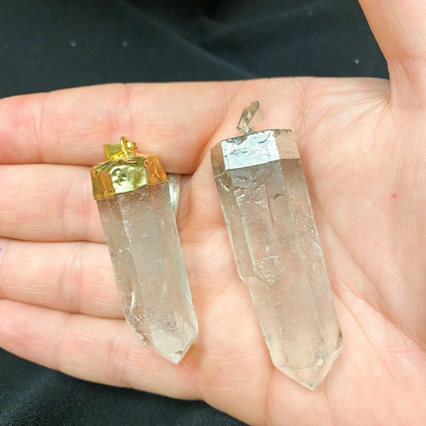 Pendent- Clear Crystal Quartz (two options)