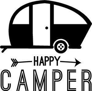 Rub-On Vinyl Happy Camper