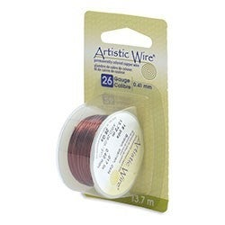 Artistic Wire- 26 Gauge Brown, 15 yd