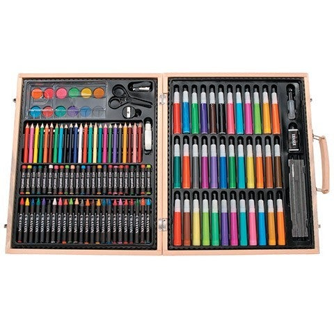 Premium Art Set in Wooden Case - 131 pieces