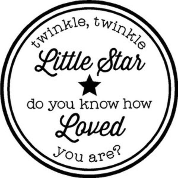 Rub-On vinyl- Twinkle Twinkle