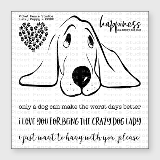 Picket Fence Studios- Lucky Puppy Stamp Set