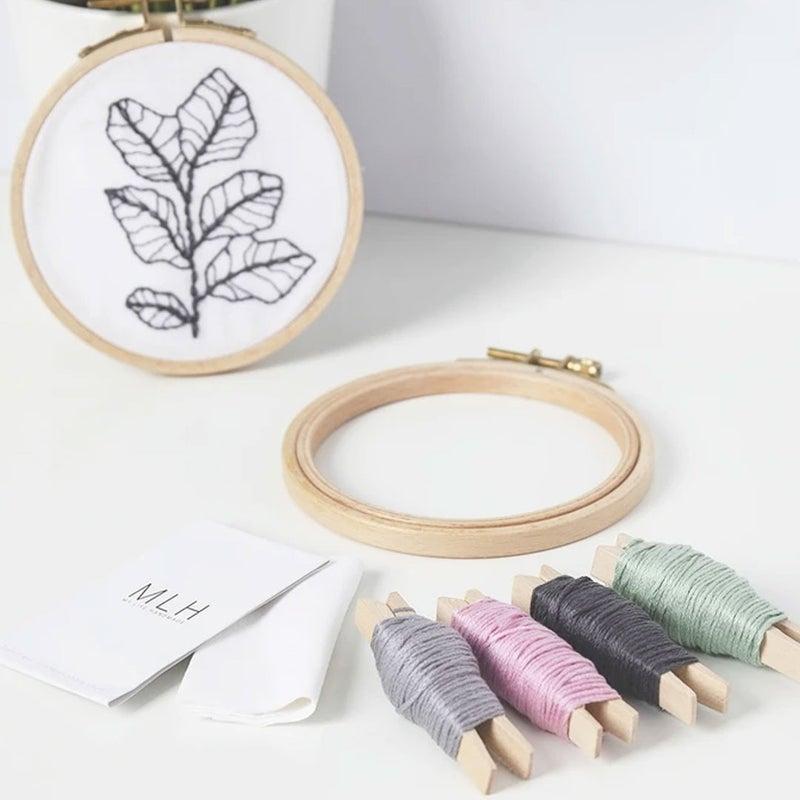 Mini Embroidery Hoop Craft Kit, 1 Pattern Per Kit, Orders picked Randomly From Two Designes