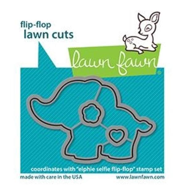 Lawn Fawn- Flip Flop Elphie Die Set